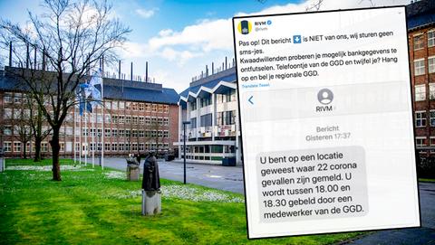 RIVM waarschuwt voor sms-berichten van oplichters: 'U bent op een locatie geweest waar coronabesmettingen zijn vastgesteld'