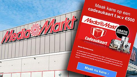 Valse winactie Media Markt: 'Maak kans op een cadeaukaart ter waarde van €500,-!'