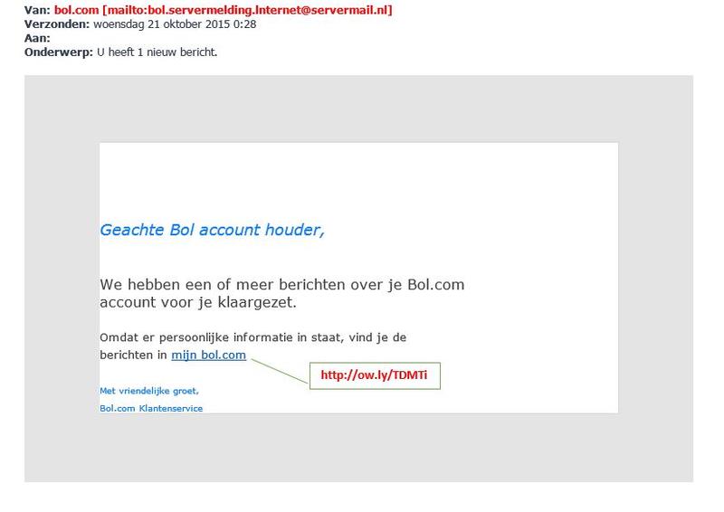 Valse mail Bol.com bevat mogelijk malware