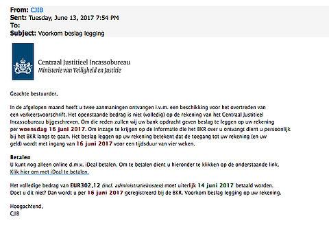 Opnieuw veel meldingen valse e-mails 'CJIB'