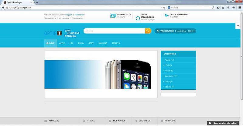 'Optie1panningen.com misbruikt gegevens bonafide bedrijf'