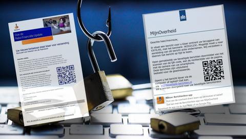 Oplichters plaatsen vaker QR-codes in valse e-mails in plaats van links