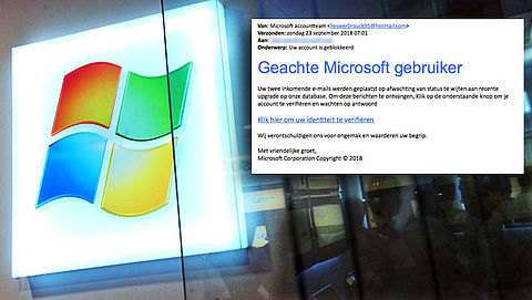 Pas op voor valse mail 'Microsoft' over accountblokkade