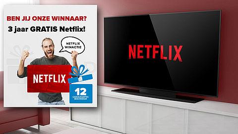 Misleidende winactie: 3 jaar gratis Netflix