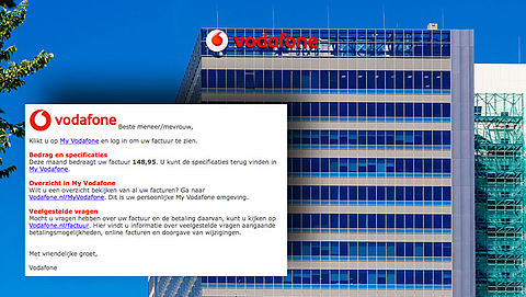 Let op! E-mail 'Vodafone' over factuur is phishing