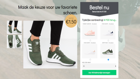 Trap niet in misleidende winactie van 'Adidas'
