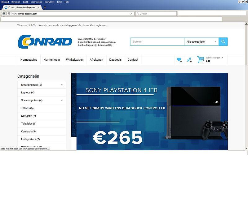 'Conrad-discount.com misbruikt naam en logo Conrad'