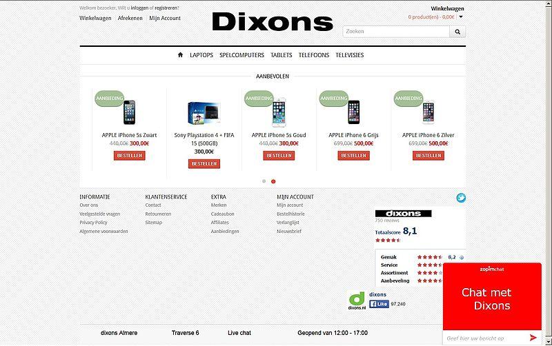'dc-s.nl misbruikt echte Dixons'