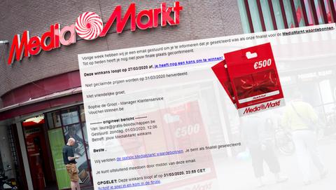Winactie voor MediaMarkt-waardebon van € 500,- is misleidend