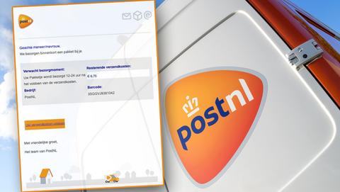 Valse mails van PostNL: 'We bezorgen binnenkort een pakket, betaal € 6,75 verzendkosten'