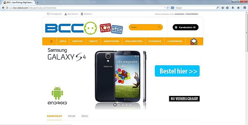 'Ook bcc-wkstore.com is nep'