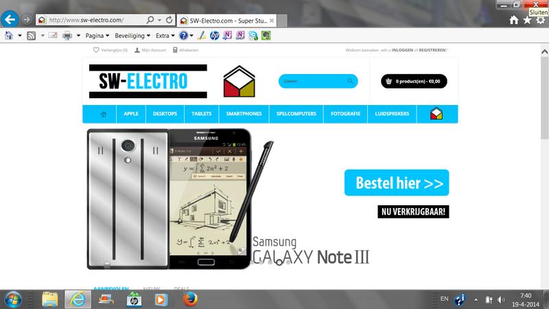 SW-electro.com linkt door naar olink-telecom.com