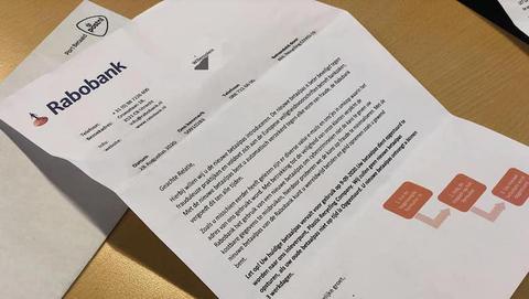 Politie waarschuwt voor valse brieven namens de 'Rabobank'