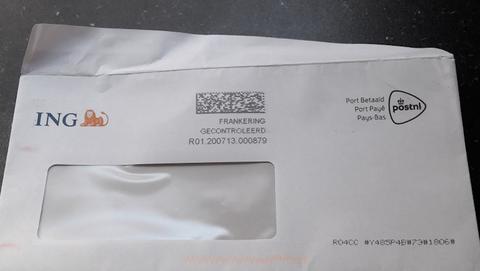 Phishing namens 'ING', maar dan per echte brief