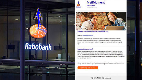 Valse e-mail Rabobank over update Rabo scanner