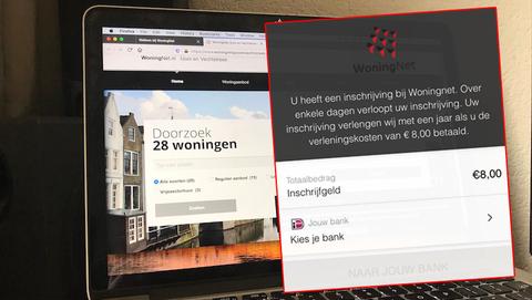 Valse sms'jes en e-mails uit naam van WoningNet: 'Over enkele dagen verloopt uw inschrijving, betaal verlengingskosten'
