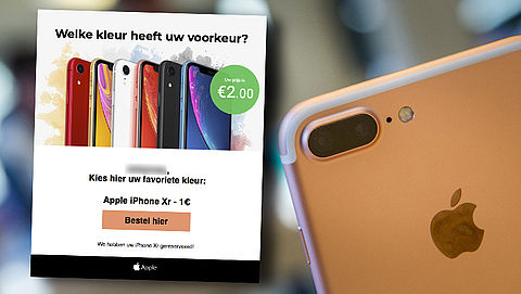 Trap niet in valse e-mail over goedkope iPhone XR