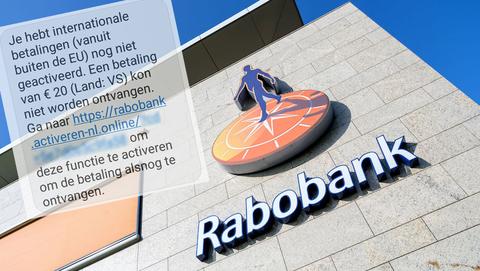 Sms-berichten van 'Rabobank' over het activeren van buitenlandse betalingen