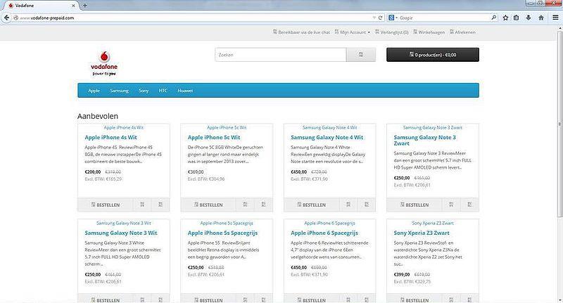'www.vodafone-prepaid.com misbruikt KvK-gegevens'