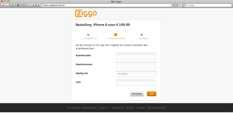 Valse mail Ziggo: 'iPhone 6 aanbieding'