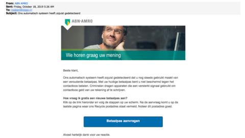 Nieuwe bankpas 'ABN AMRO' aanvragen? Vergeet het maar