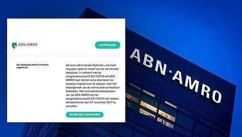 Phishingmail 'ABN AMRO': 'Uw betaalpas wordt opgeheven'