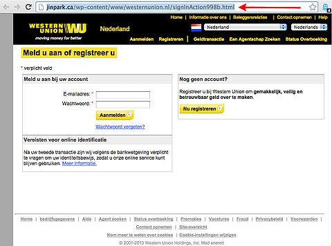 Phishing: 'wijziging e-mailadres Western Union'