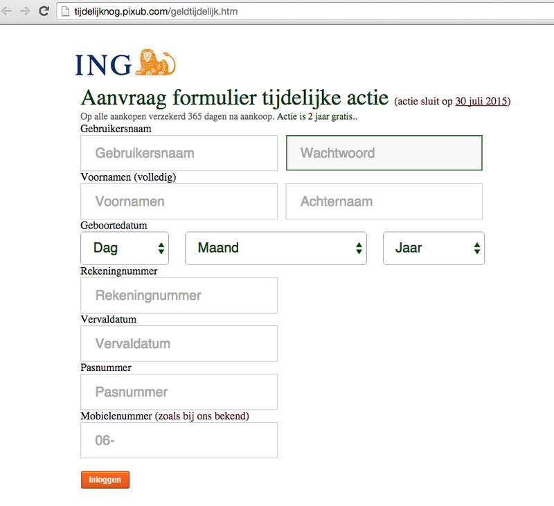 Valse mail ING: 'Zekerheid bij aankopen met uw betaalpas'