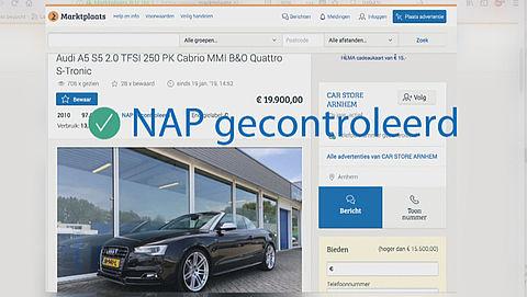 Marktplaats pakt fraude aan na ontdekking lek in autoverkoopsysteem