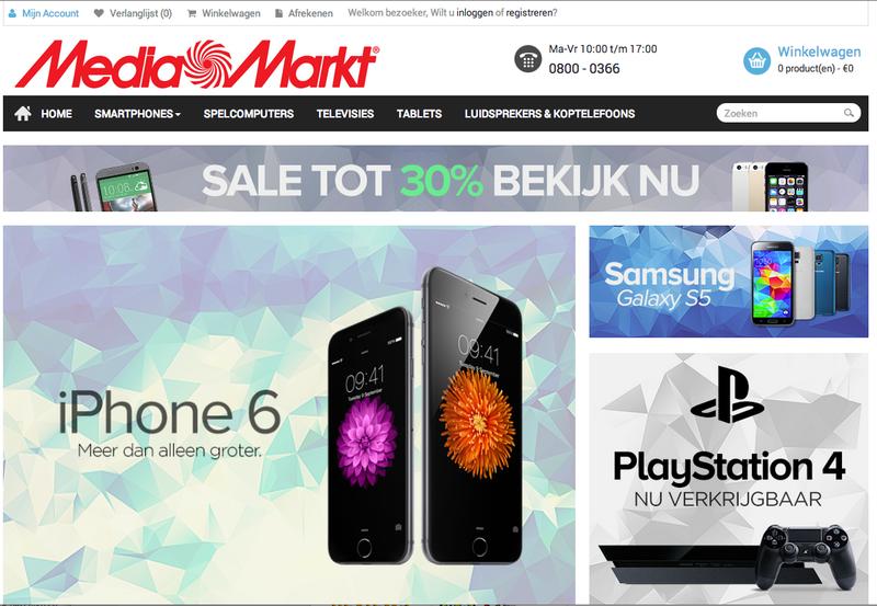 'Mediamarkt-sale.com misbruikt naam en gegevens Media Markt'