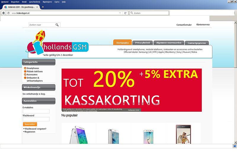 'Doe geen aankopen bij Hollandsgsm.nl'