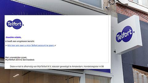 Valse e-mail Telfort: 'U heeft een ongelezen bericht'