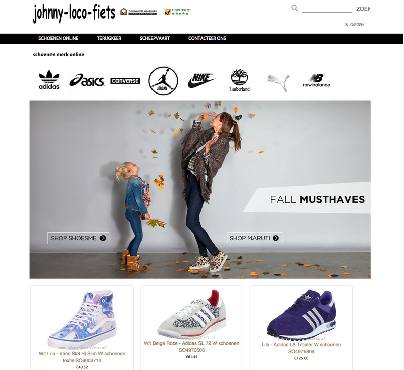 'Johnny-loco-fiets.nl misbruikt logo Thuiswinkel.org'