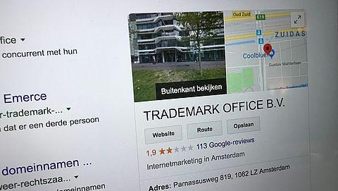 Misleidende verkoop domeinnamen door Trademark Office gaat door