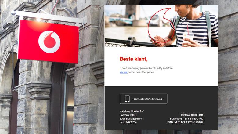 Valse e-mail: 'My Vodafone factuur'