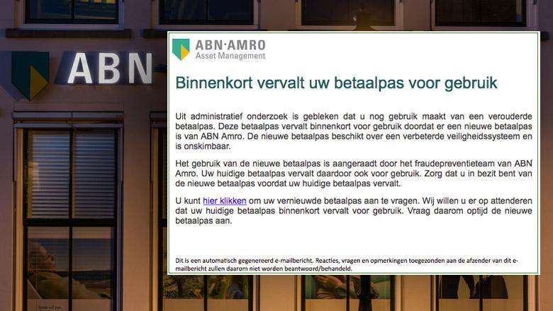 Valse e-mail 'ABN AMRO' zogenaamd veilig bericht