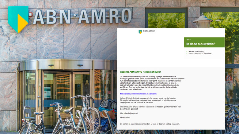 Phishingmails 'ABN AMRO' over identificatiecode