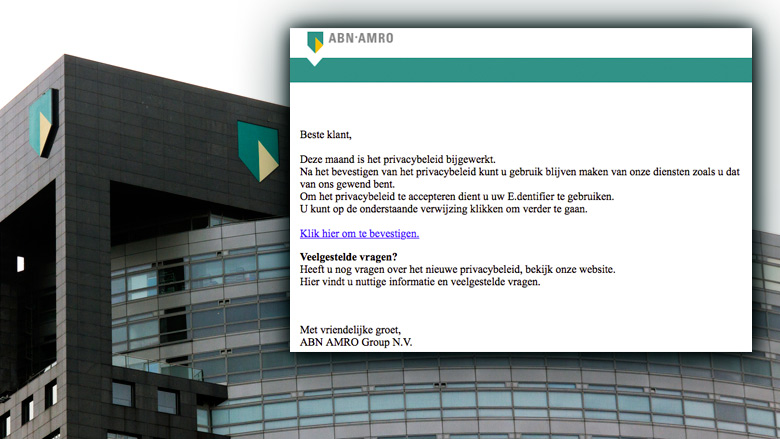 E-mail 'ABN AMRO' over privacybeleid is phishing
