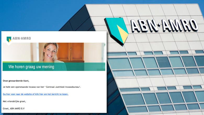 Pas op voor phishingmail 'ABN AMRO' over openstaande factuur CJIB