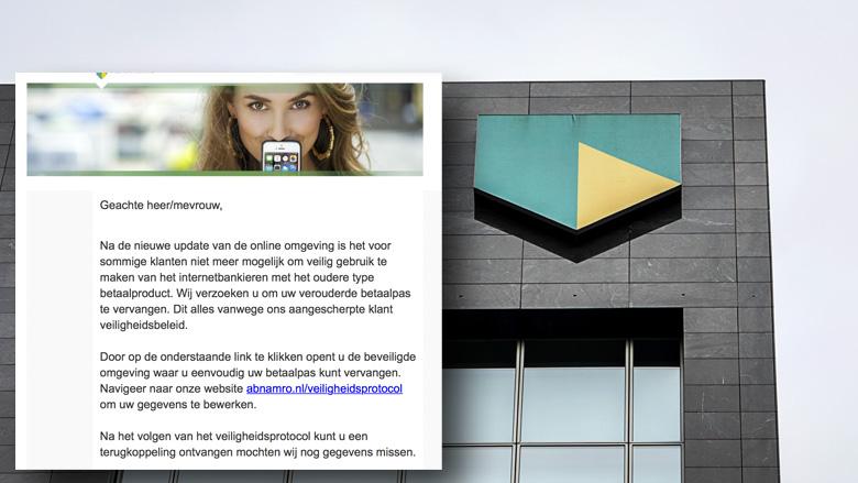 Kijk uit voor realistische phishingmail van 'ABN AMRO' over onveilig internetbankieren