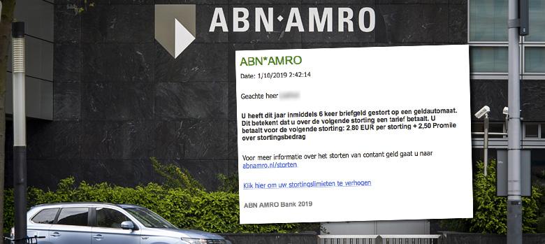 Kijk uit voor nepmail van 'ABN AMRO' over stortlimiet verhogen