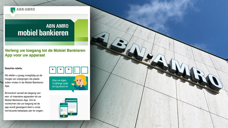 E-mail 'ABN Amro' over Mobiel Bankieren app is phishing