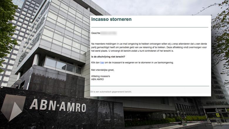 Pas op voor valse mail van 'ABN AMRO' over 'periodieke afschrijving'