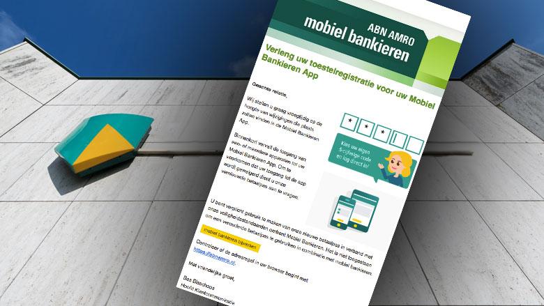 Pas op voor phishingmail 'ABN AMRO' over nieuwe pinpas