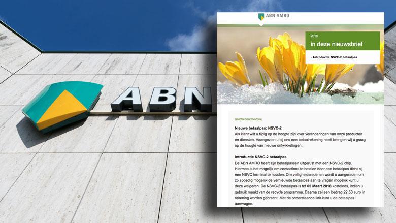Bericht 'ABN Amro' blijkt bankpasphishing