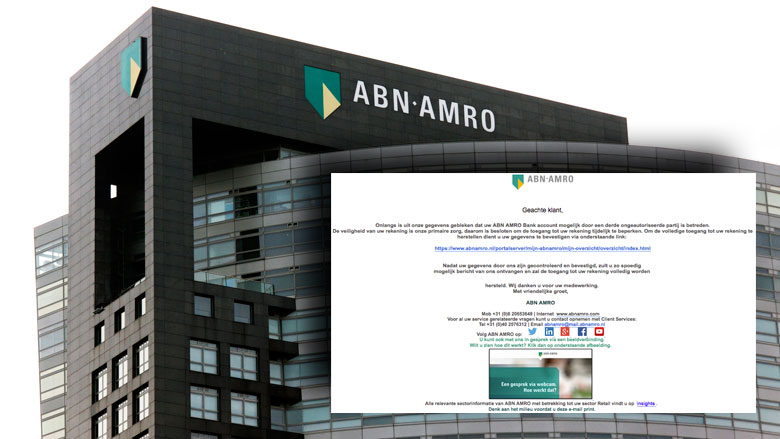 Trap niet in phishingmail 'ABN AMRO'