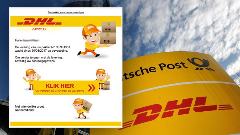 Valse mail 'DHL' over levering pinpas