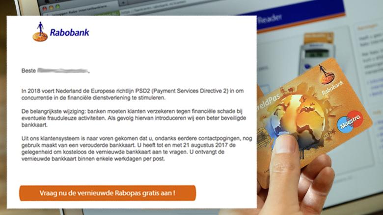 Phishingmail 'Vernieuwde Europese richtlijn'