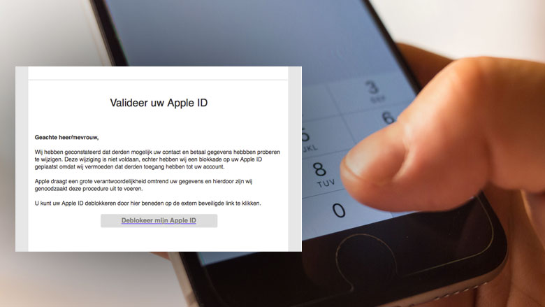 Let op! Phishingmail 'Apple' over geblokkeerd account
