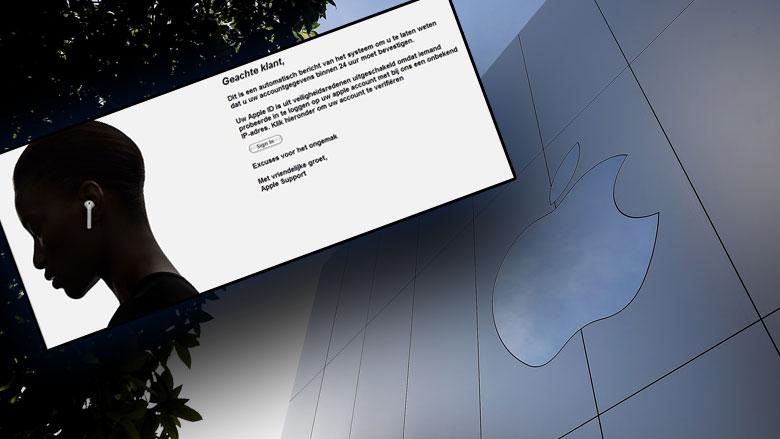 E-mail 'Apple' over uitgeschakelde Apple ID